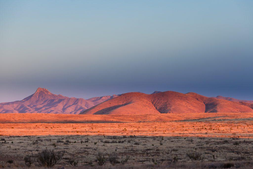 Sunset Light High Desert Landscape New Mexico Us